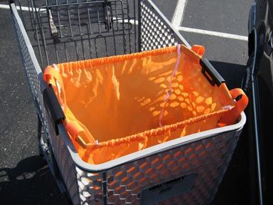 Home Depot Reusable Ping Bag That Clips Onto Cart And Holds A