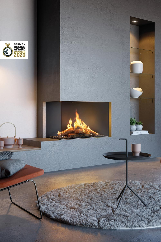 German Design Gewinner 2020 Visio Gas Kamin Kamin Wohnzimmer Gaskamin