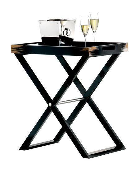 Black Butler Tray Table