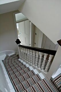 Stripe Your Stairs Stair Runner Carpet Carpet Stairs Striped