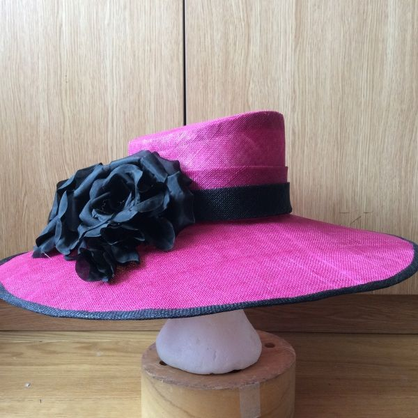 Magenta occasion hat BY HELEN TILLEY   #millinery #hats #HatAcademy