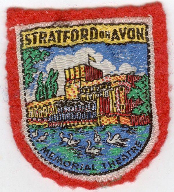 STRATFORD ON AVON MEMORIAL THEATER VINTAGE PATCH Vintage
