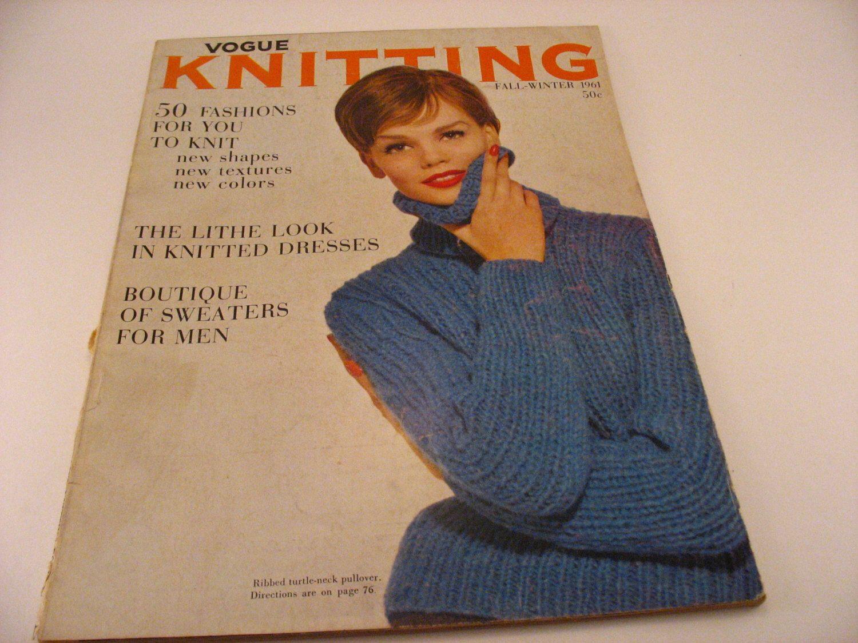 Vogue Knitting Magazine Fall-Winter 1961 Knitting Patterns Knitted ...