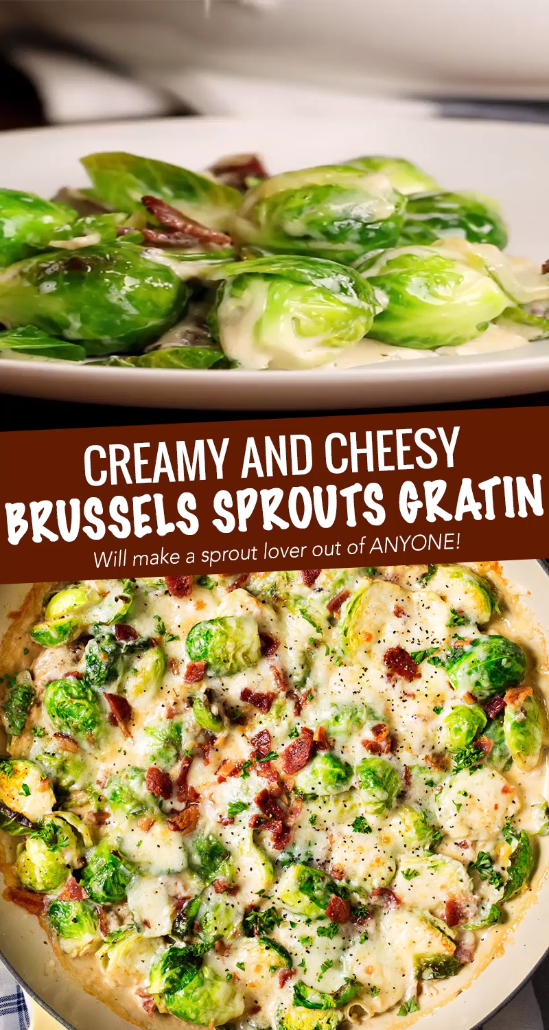 Brussels Sprouts Gratin (holiday side dish!) - The Chunky Chef