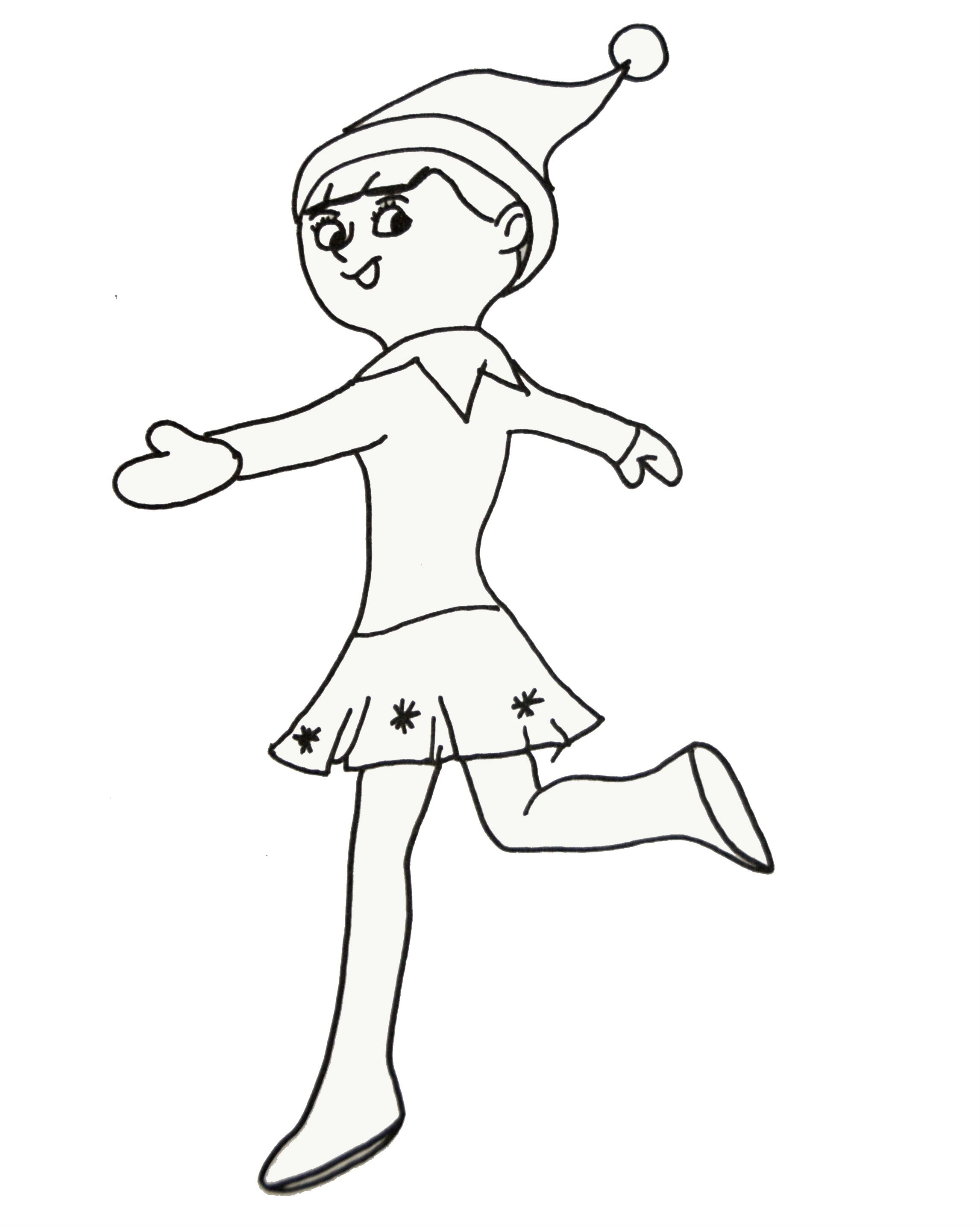 Elves Longer Dancing Coloring Pages For Kids Csz Printable Elves Coloring Pages Fo Christmas Coloring Pages Coloring Pages For Girls Coloring Pages For Kids
