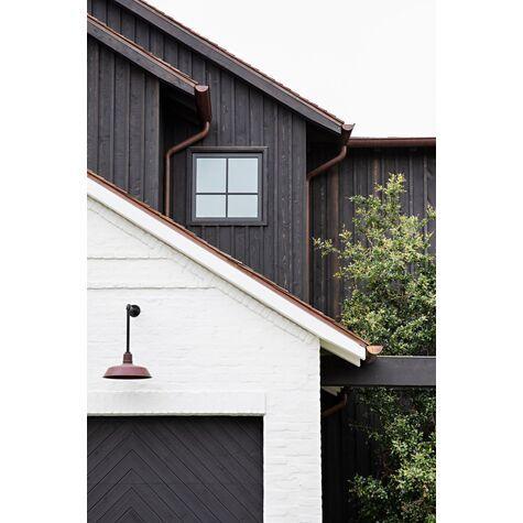 The Original Warehouse Gooseneck Light In 2020 Brick Exterior House Modern Farmhouse Exterior Exterior House Colors