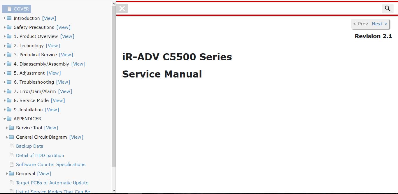 Canon imageRUNNER ADVANCE C5500 Series Service Manual