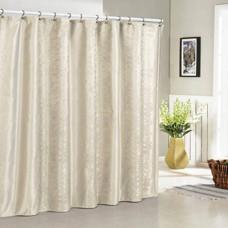 Hoyt Jacquard Shower Curtain Beige