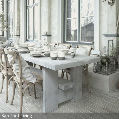 Seawashed Tisch Von Barefoot Living In 2019 Garten Tisch Deko Wohnen