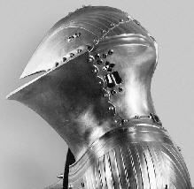 Frog-Mouth Helm was a full-face helmet with tiny viewing slits used by knights in jousting tournaments.