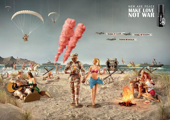 Make Love, not War: Lo nuevo de Axe para el Superbowl. #Publicidad #SuperBowl