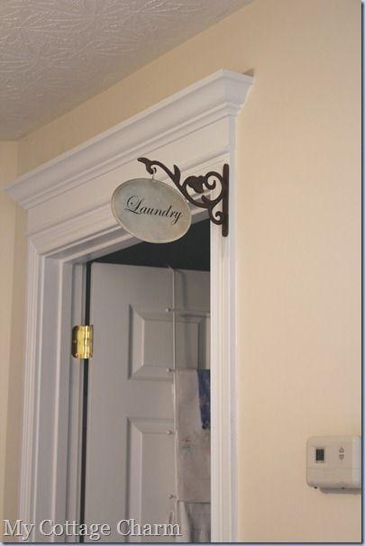 How To Make A Hallway Sign Home Diy Diy Bathroom Decor