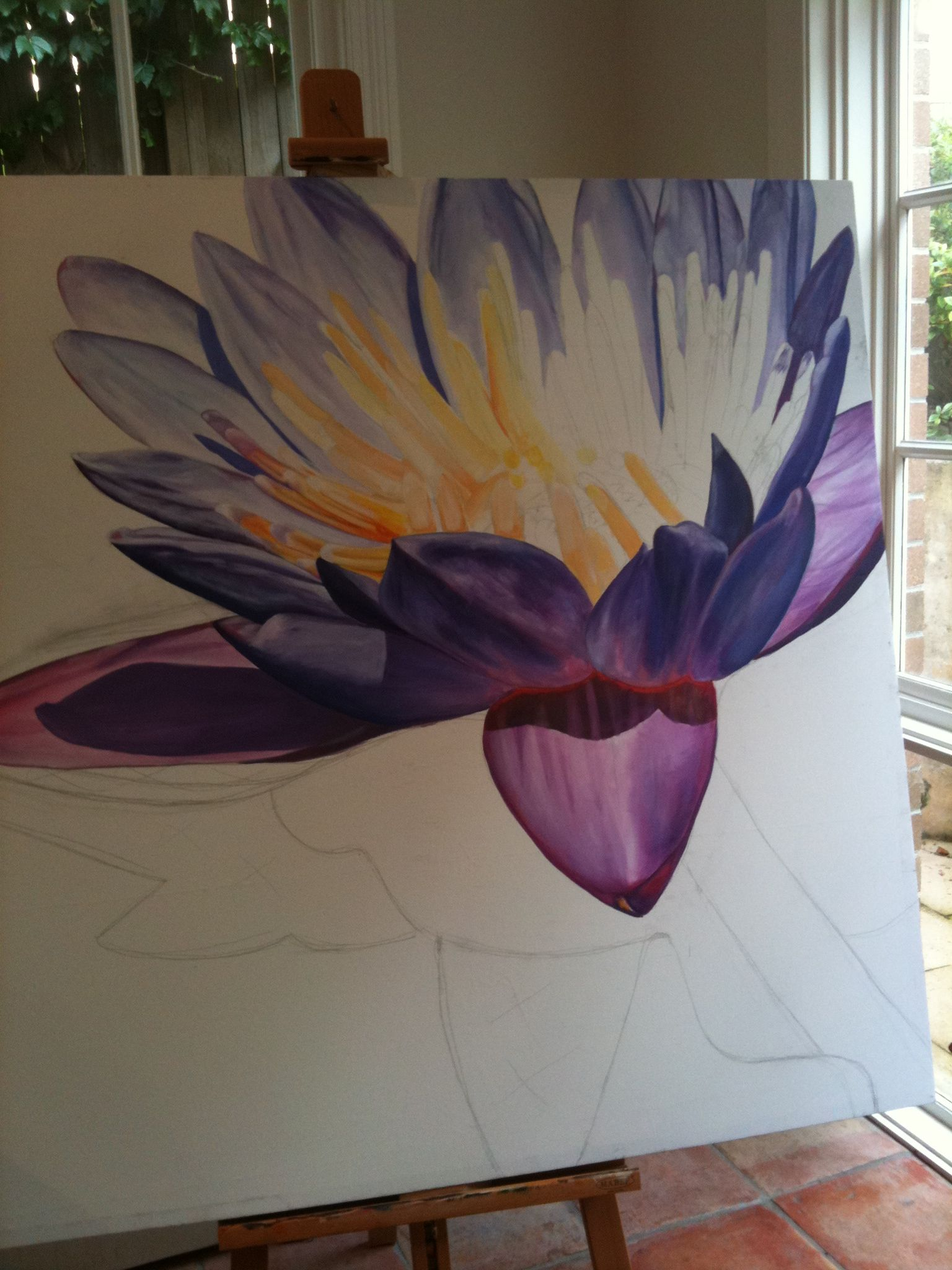 Lotus Flower Painting Symbolic From The Way Lotus Flowers Bloom