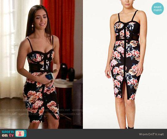 b59cc68cac Daniela s floral bustier dress on Devious Maids. Outfit Details   https   wornontv