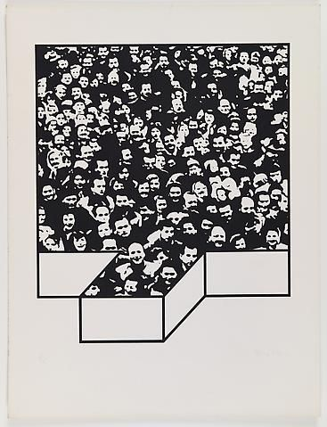 Middle Class & Co. (1971) Silkscreens on paper in 15 parts with front and back cover (part 5/15) 25h x 19w in (63.5h x 48.26w cm); Edition of 25 Middle Class & Co. (1971) Silkscreens on paper in 15 parts with front and back cover (part 5/15) 25h x 19w in (63.5h x 48.26w cm); Edition of 25