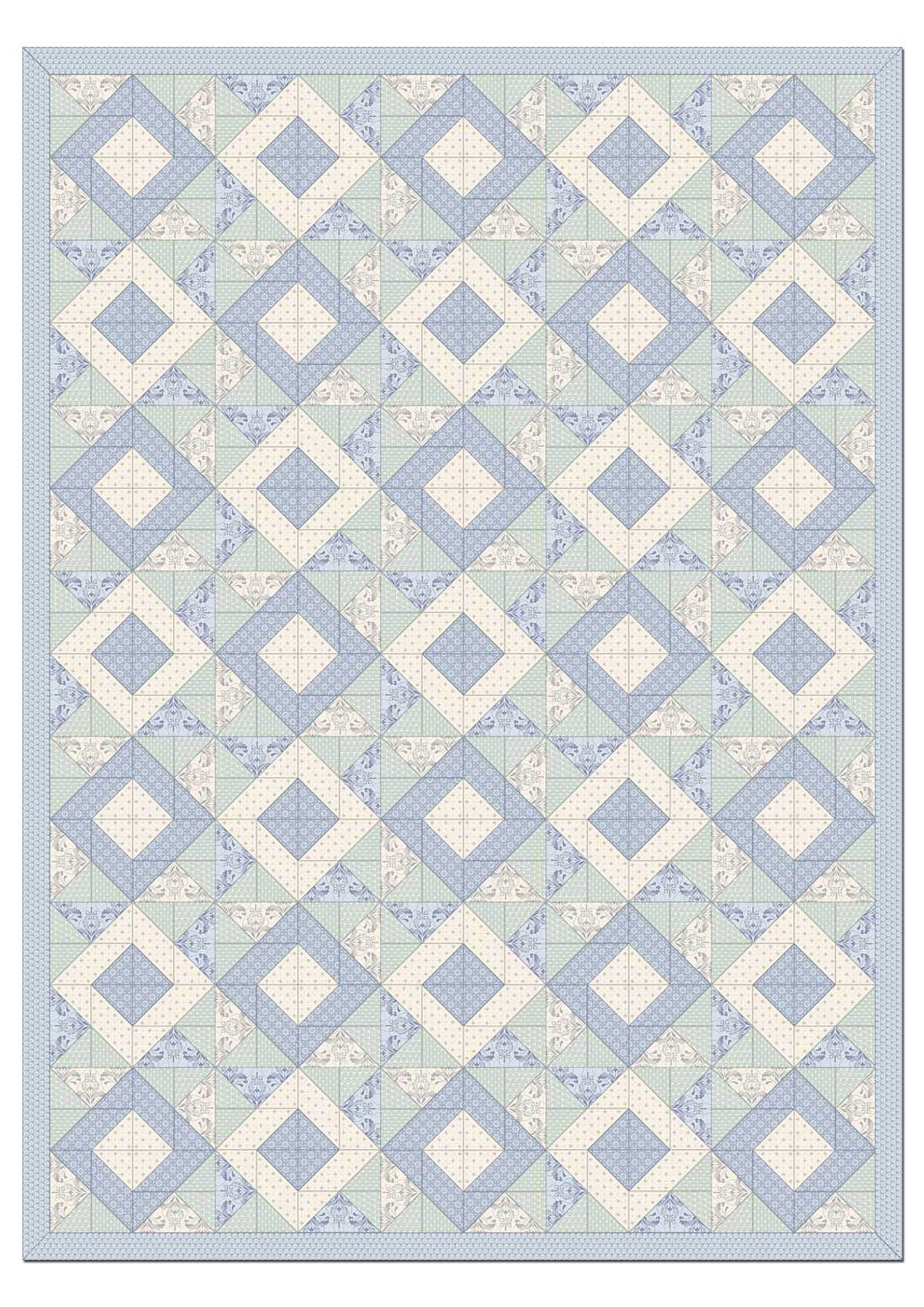 Pdf of pattern pages available for download here: http://www.africanskyfabrics.com/images/Beach%20House%20by%20Ginger%20Lily%20Studio%20Quilt%20Pattern.pdf