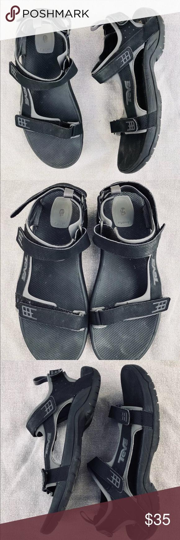 d457d45691bc Teva Minam Men s Black Leather Sport Sandals 13 Teva Minam S N 4289 Men s  Black Leather Sport Sandals Size 13   47 Teva Shoes Sandals   Flip-Flops