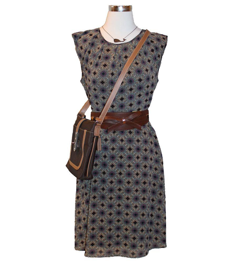 Tulle dress, Ornamental Things necklace, statement belt, crossbody