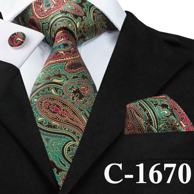 Classic Neck Tie Men Stripe Paisley Floral Checks Necktie JACQUARD 100/% Silk Tie