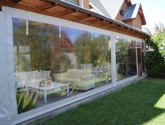Resultado de imagen para cierre terraza pvc cortinas de lona - Cortinas de lona para terrazas ...