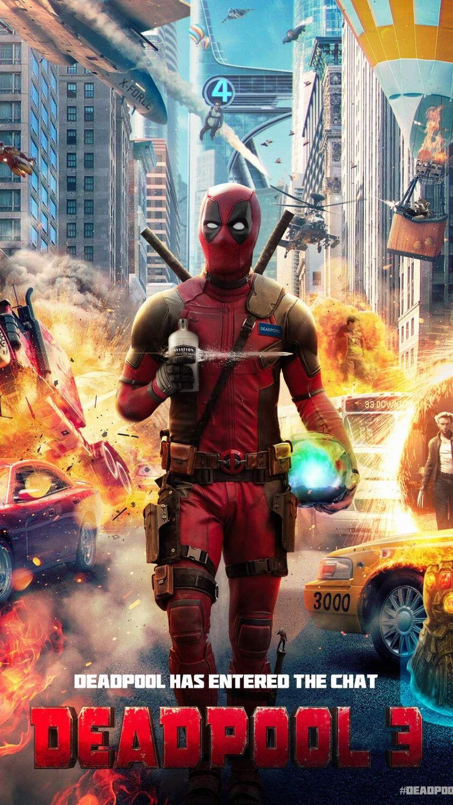 Deadpool 3 iPhone Wallpaper Марвел и Дэдпул