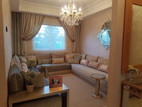 salon marocain gris beige int rieur sur mesure salon. Black Bedroom Furniture Sets. Home Design Ideas