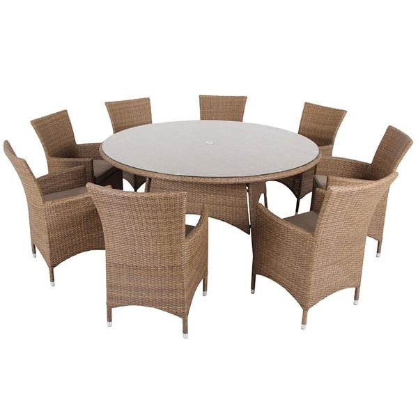 Leisuregrow St Moritz 8 Seat Rattan Garden Furniture Set