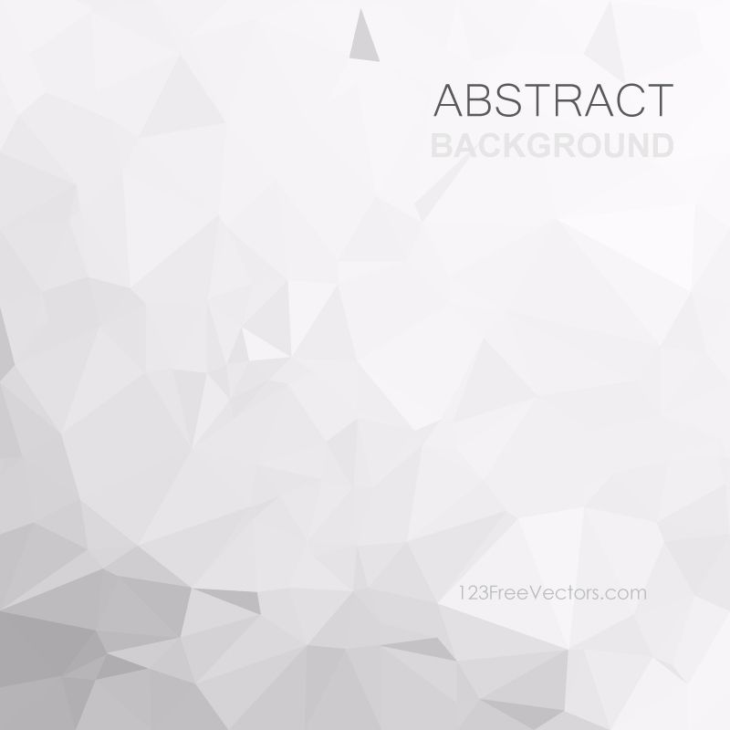 Light Gray Polygonal Background Vector | White Background