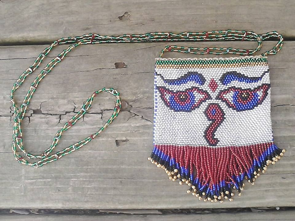 amulet bag Nepalese Eyes