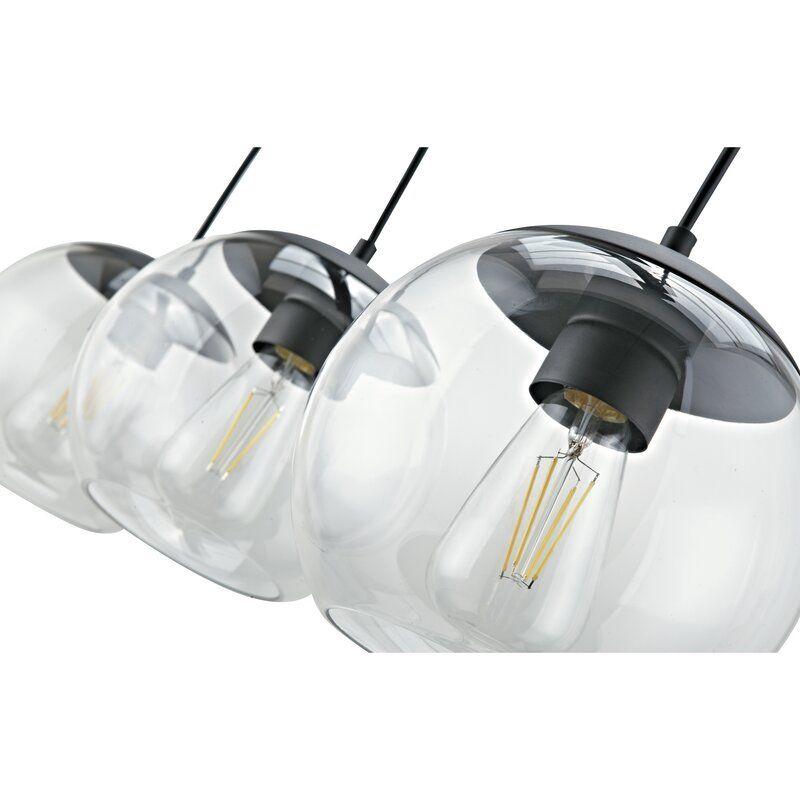 Thursa 3 Light Kitchen Island Globe Pendant Globe Pendant Glass Pendant Light Kitchen Lighting