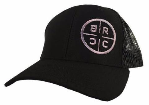 78e92778a4876 BRCC Trucker Hat - Black with Black mesh - Black Rifle Coffee Company