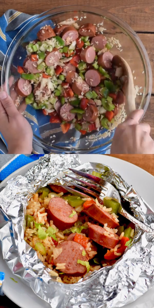 Jambalaya Foil Packet Dinner Recipe