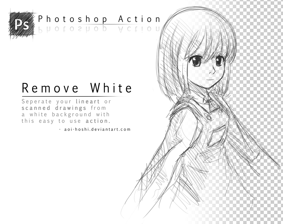 Remove White Photoshop Action By Daruedeviantartcom On