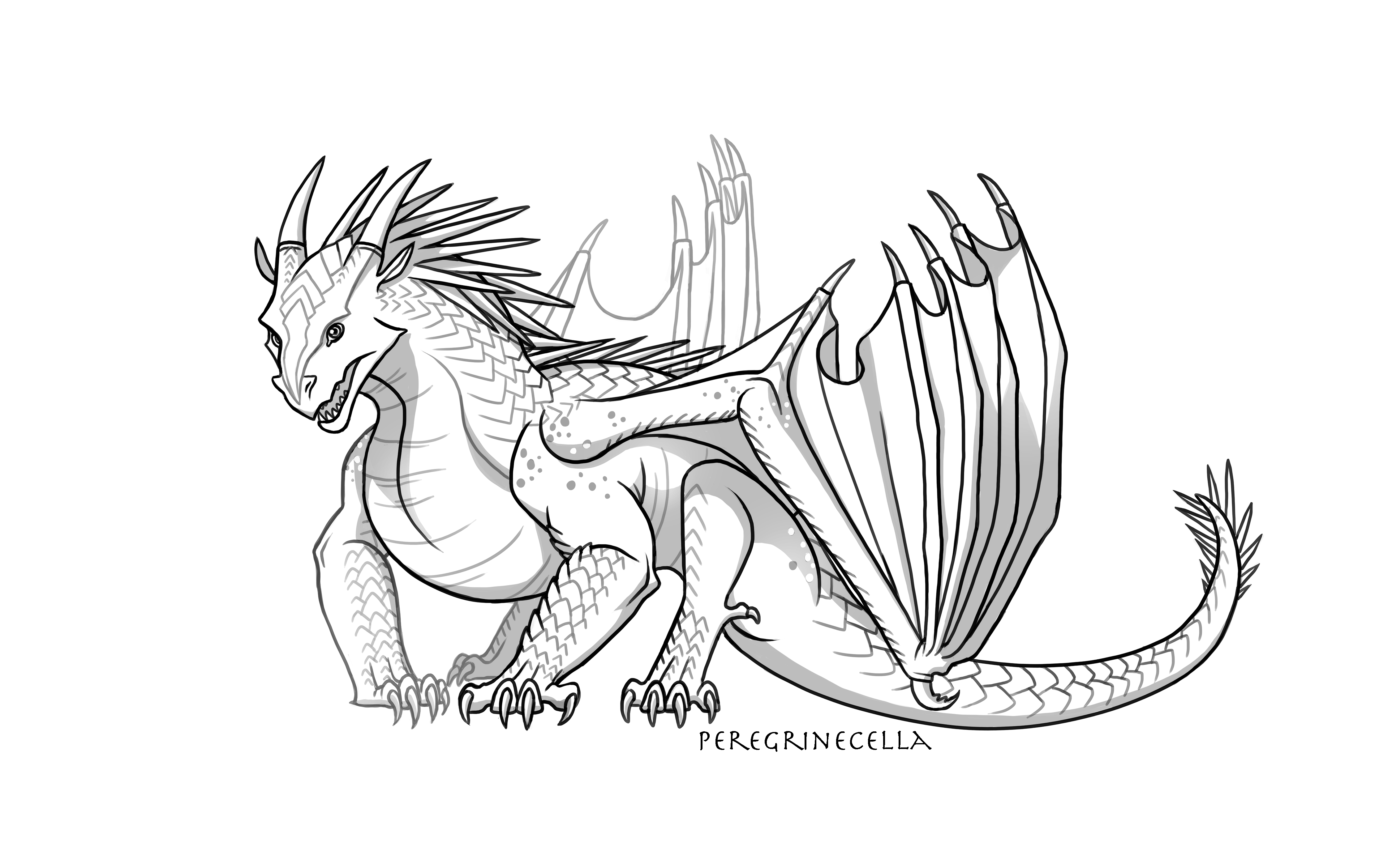 Baby Icewing Base By Peregrinecella On Deviantart Wings Of Fire Dragons Wings Of Fire Dragon Base