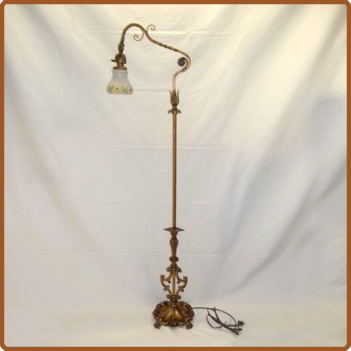1930 Art Deco Brass Floor Lamp Arm Floor Lamp Lamp Floor Lamp