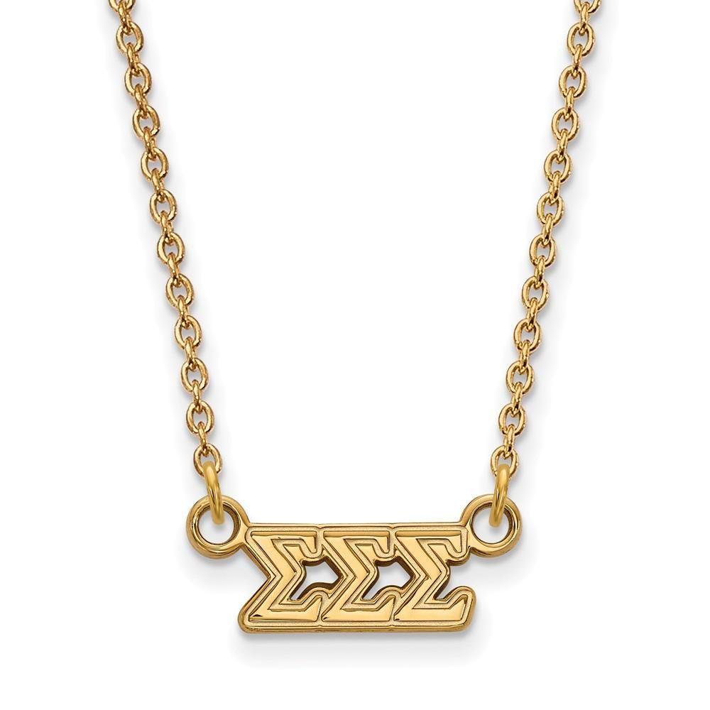 ?? Sterling Silver w// 14K Yellow Gold-Plated LogoArt Official Licensed Greek Sororities Delta Zeta Key Chain