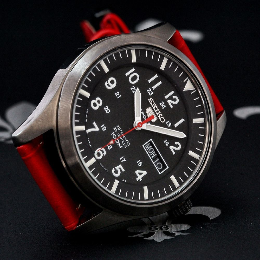 Seiko 5 Sport Military TiCN Automatic Day & Date Watch Ref ...