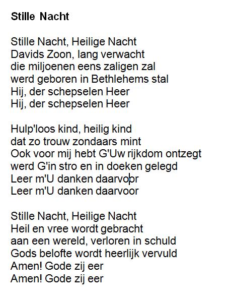 Stille Nacht Heilige Nacht Lyrics