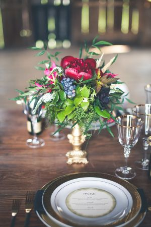7650f2cb1e1 Rustic Jewel Tone Wedding Inspiration from One Summer Day ...