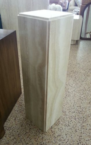 70 S Travertine Marble Pedestal Stand Perfect For Sculpture