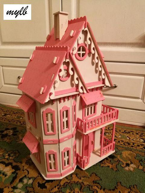 Mylb Vente Chaude BRICOLAGE Maison de Poupée En Bois Miniatura - bricolage a la maison