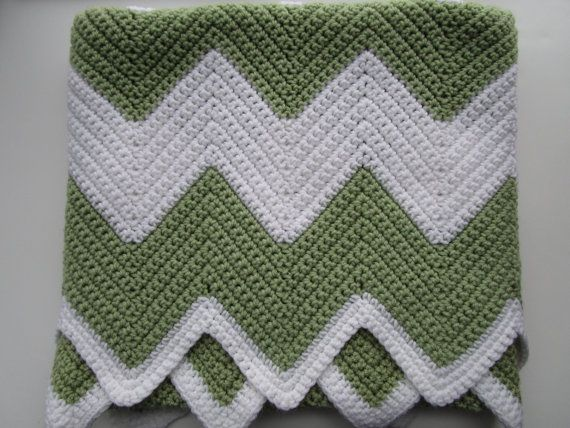 Crochet Afghan Pattern, Easy Chevron Crochet Blanket Pattern ...
