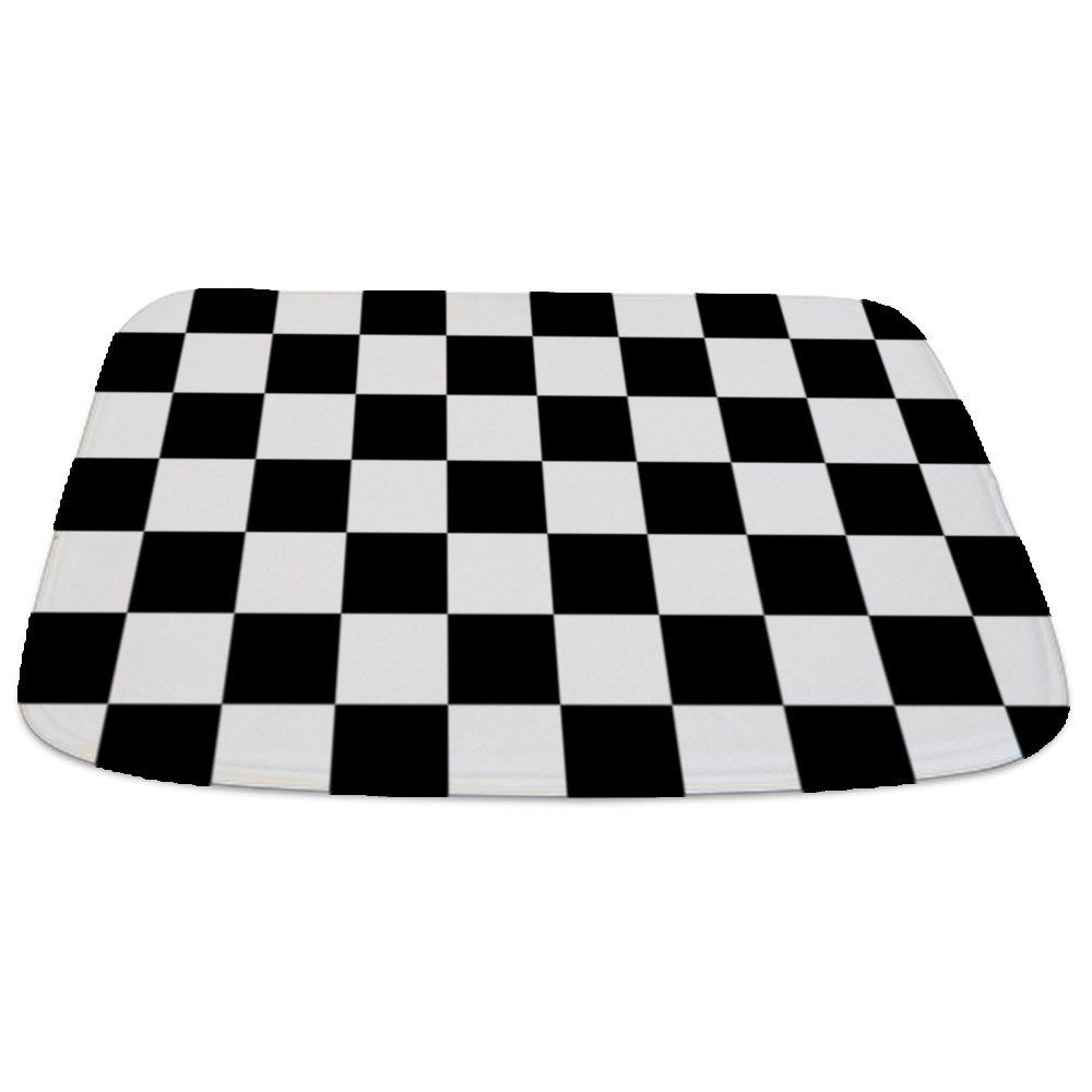 Cafepress Black And White Checkered Pattern Decorative Bathmat Click On The Image For Additional Details Affil In 2020 Memory Foam Bath Rugs Bath Rug Bath Runner Rugs