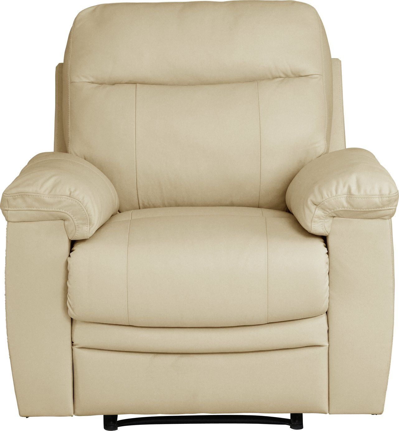 Buy Argos Home Paolo Leather Mix Manual Recliner Chair Ivory