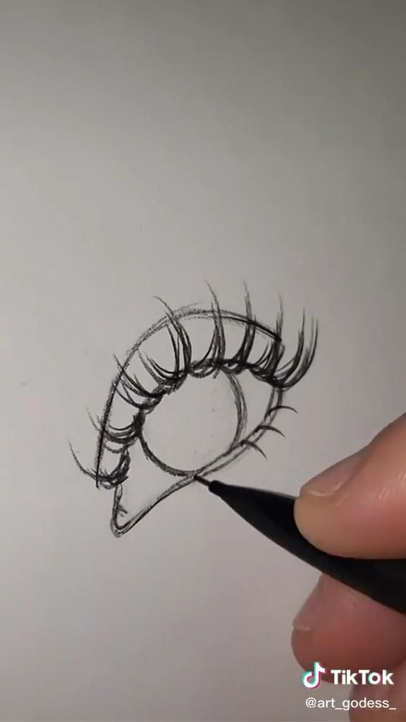 Photo of how to draw lashes!!☺️?