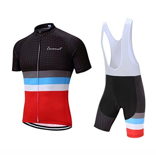 Coconut Pro Team Mens Cycling Jersey Bib Shorts With 3d Padded
