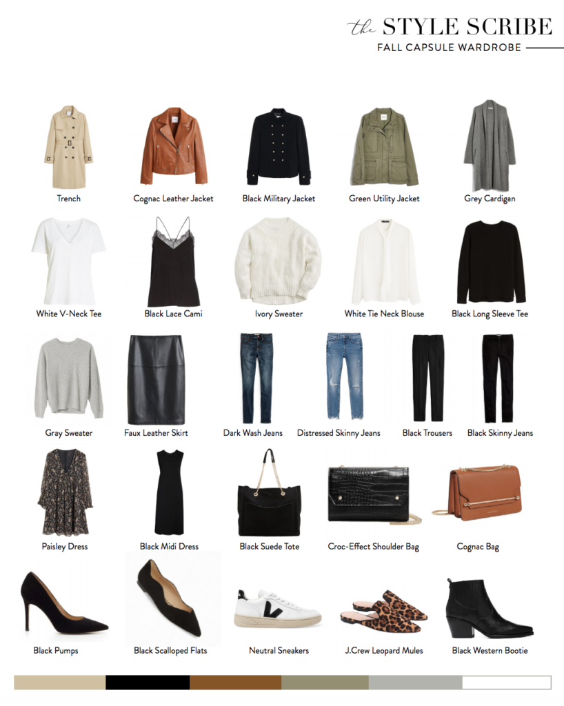 THE FALL 2019 CAPSULE WARDROBE // 26 PIECES, 100 OUTFITS | The Style Scribe