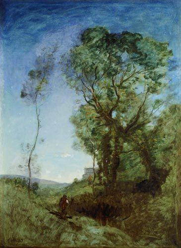 Jean-Baptiste-Camille Corot - The Italian villa.