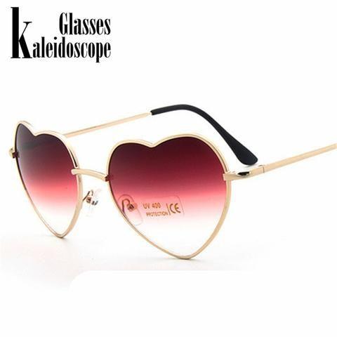 0cd1c72a6f Kaleidoscope Glasses Heart Reflective Sunglasses Women s Glasses Sun Shaped  Love Fashion Women Sun Glasses Metal Frames Goggle