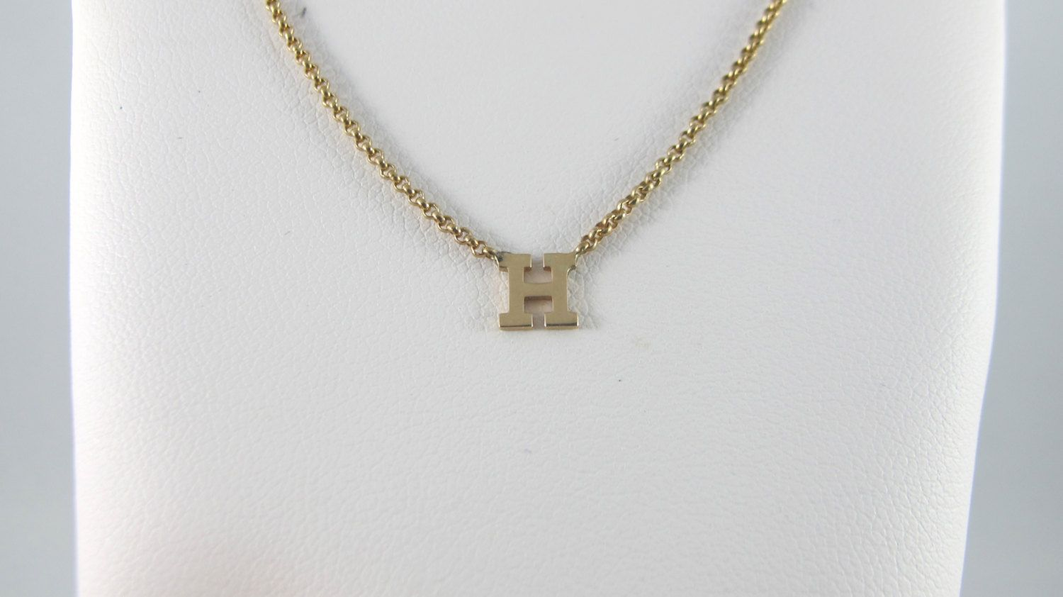 Tiny Initial Necklace In Block 10kt Yellow Gold Initial Necklace Gold Necklace Gold